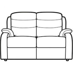 Michigan  Double Manual Recliner 2 Seater sofa with latches