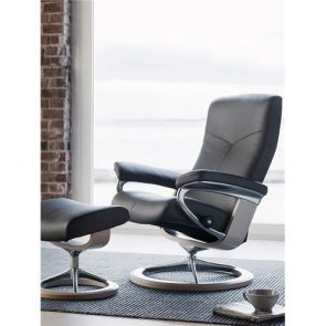 Stressless Dover Fabric Large Signature Chair, No Footstool