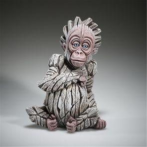 """Edge Sculpture Baby Orangutan """"Alba"""" (White)"""