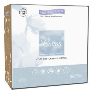 Cotton  Small Single Long Fitted Skirt Mattress Protector