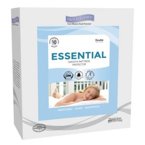 Essential  King Fitted Skirt Mattress Protector