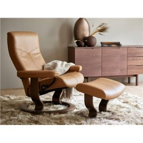 Stressless Dover Medium Fabric Chair with Footstool
