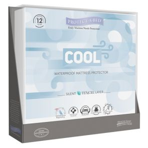 Cool  King Fitted Skirt Mattress Protector