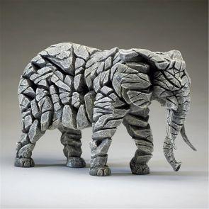 Edge Sculpture Elephant White