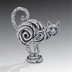 Edge Sculpture Cat White