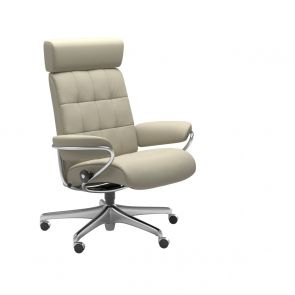 Stressless London Fabric Office with Headrest Chair