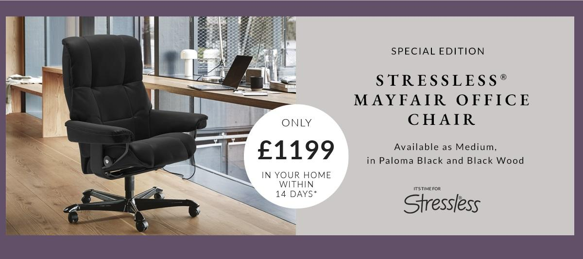 Stressless office chair promo